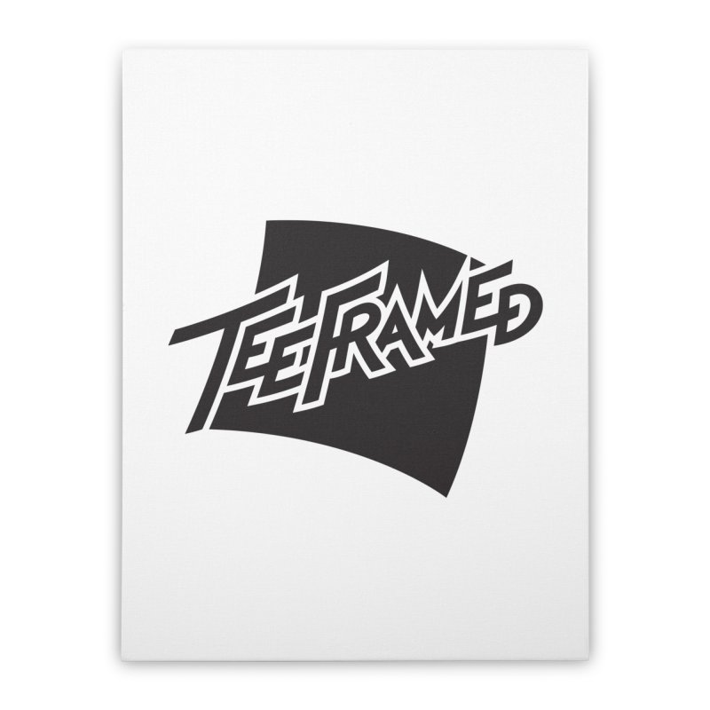 Teeframed - Black Logo Home Stretched Canvas by Teeframed