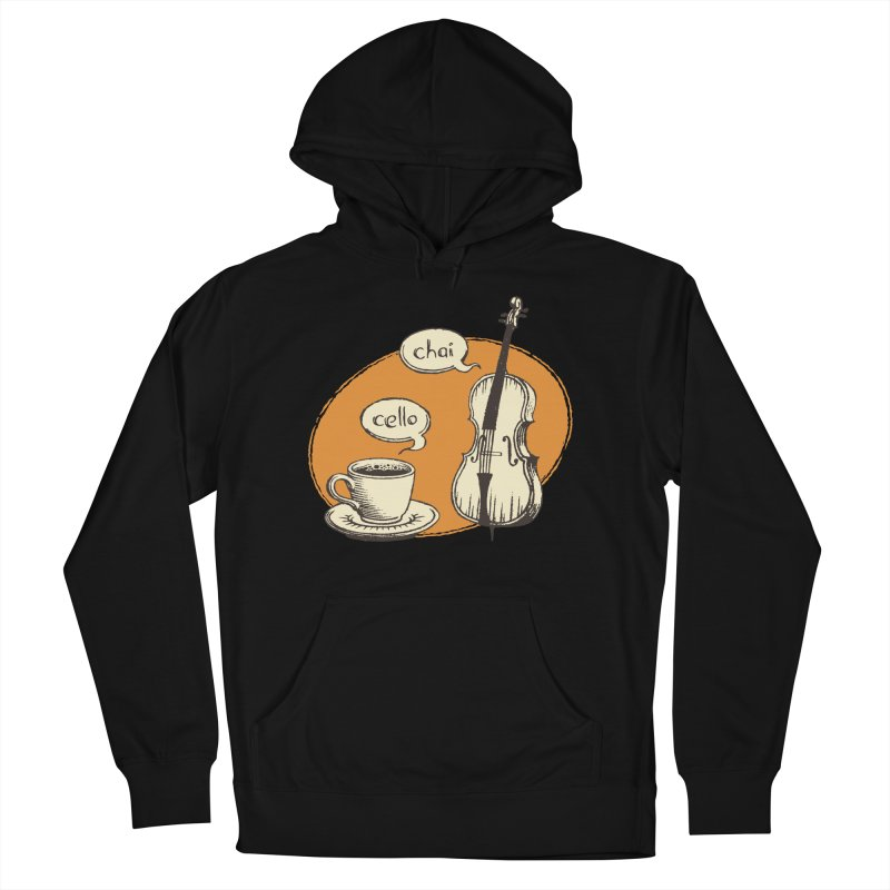 Hi. Hello. Men's French Terry Pullover Hoody by Teeframed
