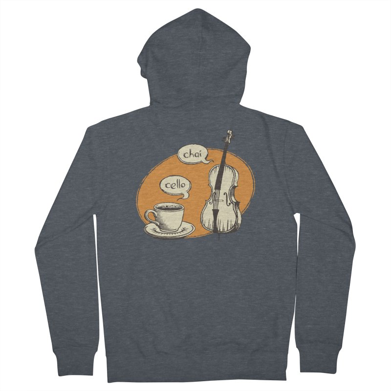 Hi. Hello. Men's French Terry Zip-Up Hoody by Teeframed