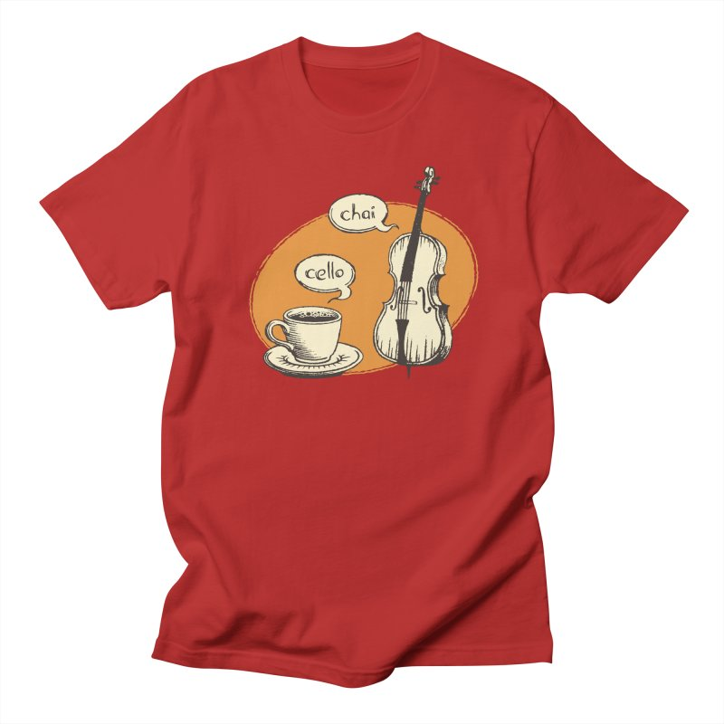 Hi. Hello. in Men's T-shirt Red by Teeframed