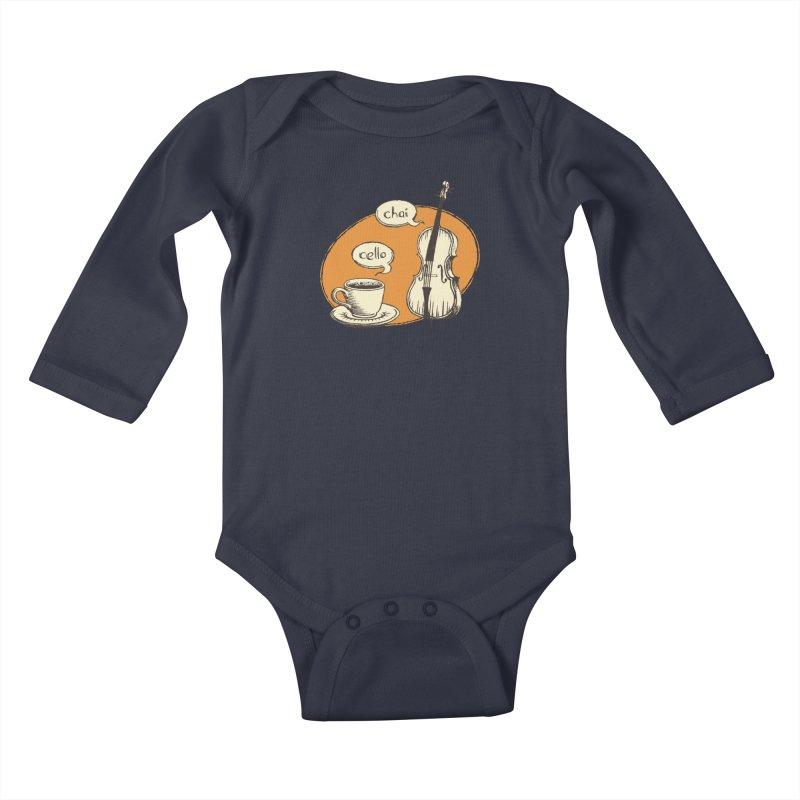Hi. Hello. Kids Baby Longsleeve Bodysuit by Teeframed