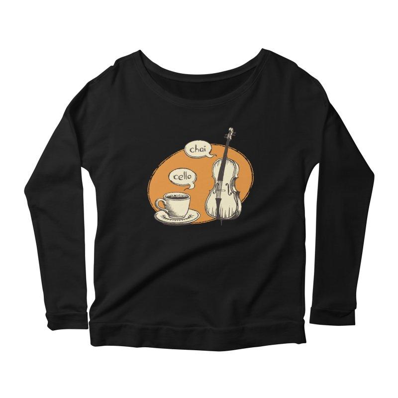 Hi. Hello. Women's Scoop Neck Longsleeve T-Shirt by Teeframed