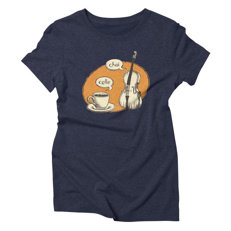 Hi. Hello. Women's Triblend T-Shirt by Teeframed