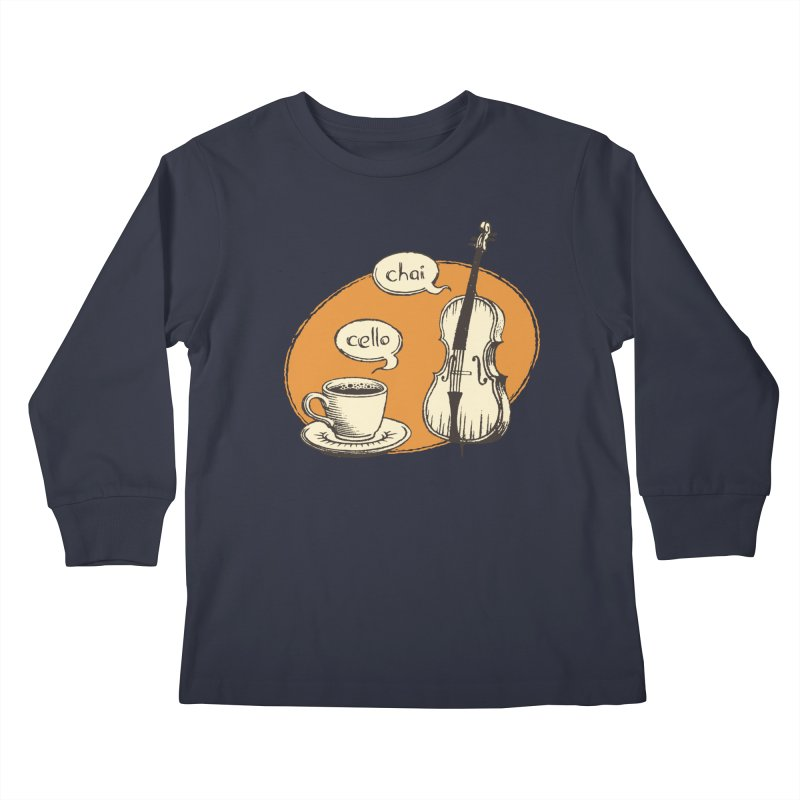 Hi. Hello. Kids Longsleeve T-Shirt by Teeframed