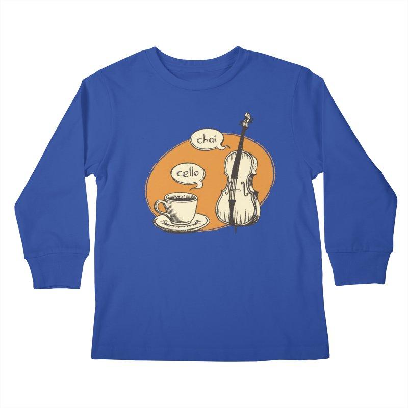 Hi. Hello. Kids Longsleeve T-Shirt by Teeframed