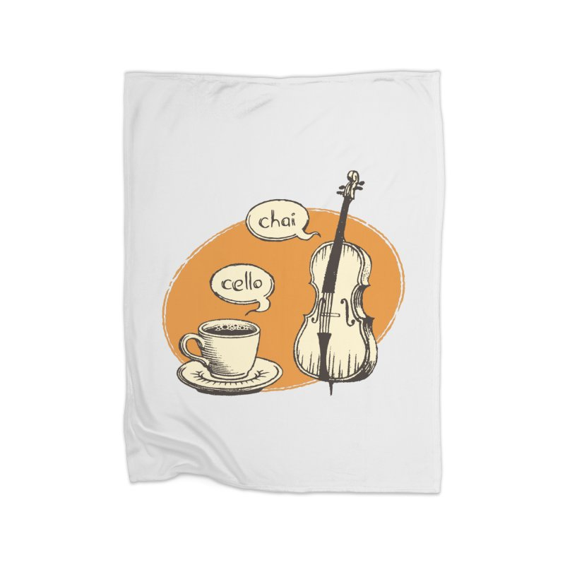 Hi. Hello. Home Fleece Blanket Blanket by Teeframed