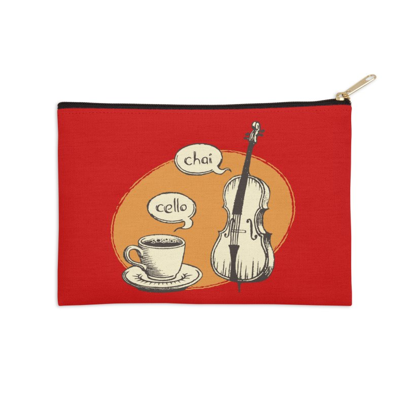 Hi. Hello. Accessories Zip Pouch by Teeframed