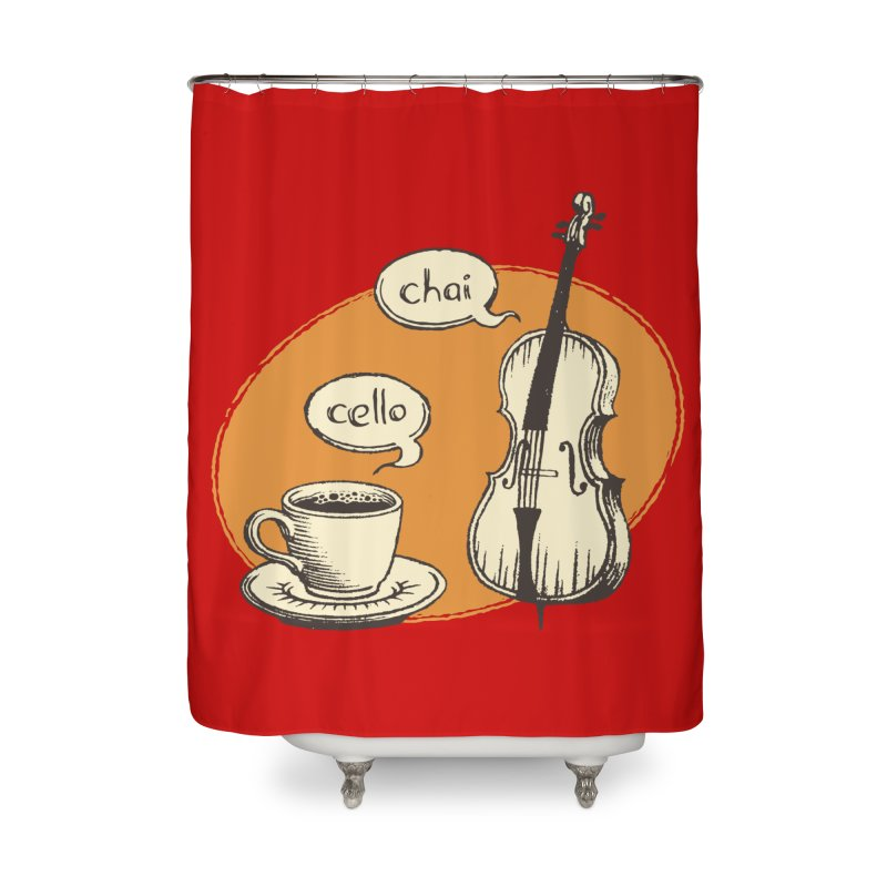 Hi. Hello. Home Shower Curtain by Teeframed