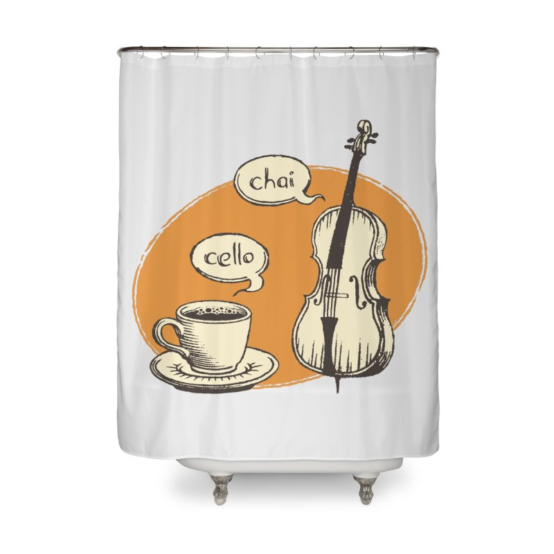 Hi. Hello. Home Shower Curtain by Teeframed