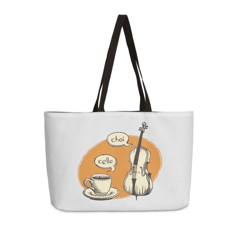 Hi. Hello. Accessories Weekender Bag Bag by Teeframed