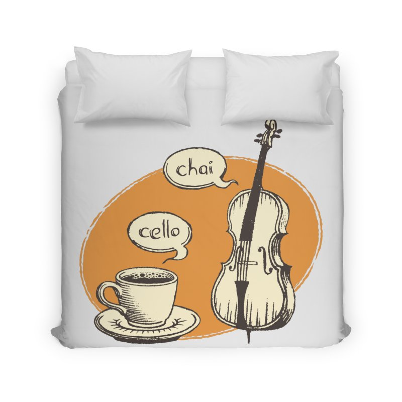 Hi. Hello. Home Duvet by Teeframed