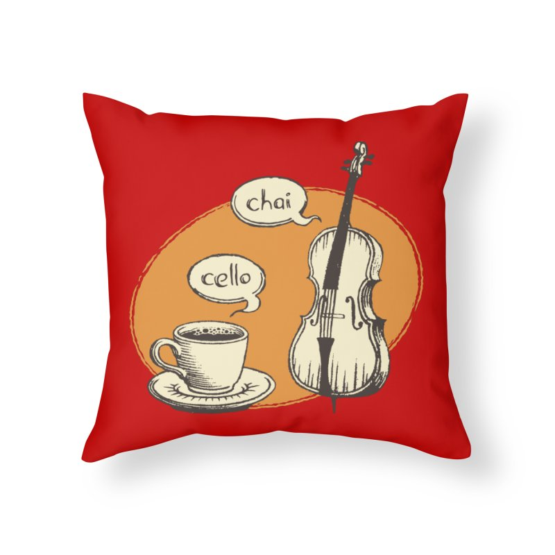 Hi. Hello. Home Throw Pillow by Teeframed