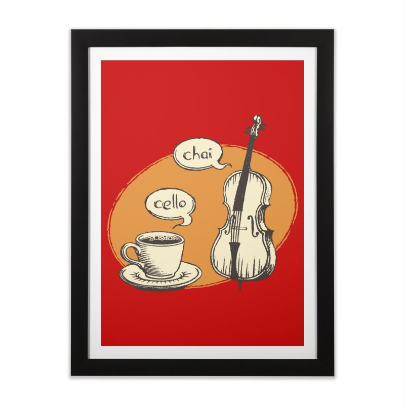 Hi. Hello. Home Framed Fine Art Print by Teeframed
