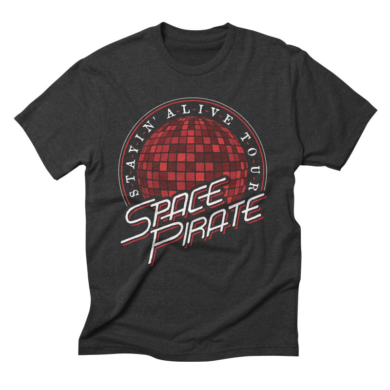 Space Pirate in Men's Triblend T-shirt Heather Onyx by Teeframed
