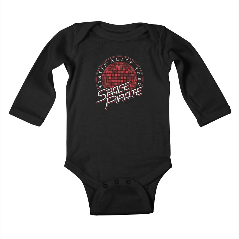 Space Pirate Kids Baby Longsleeve Bodysuit by Teeframed
