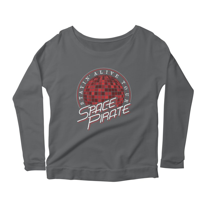 Space Pirate Women's Scoop Neck Longsleeve T-Shirt by Teeframed