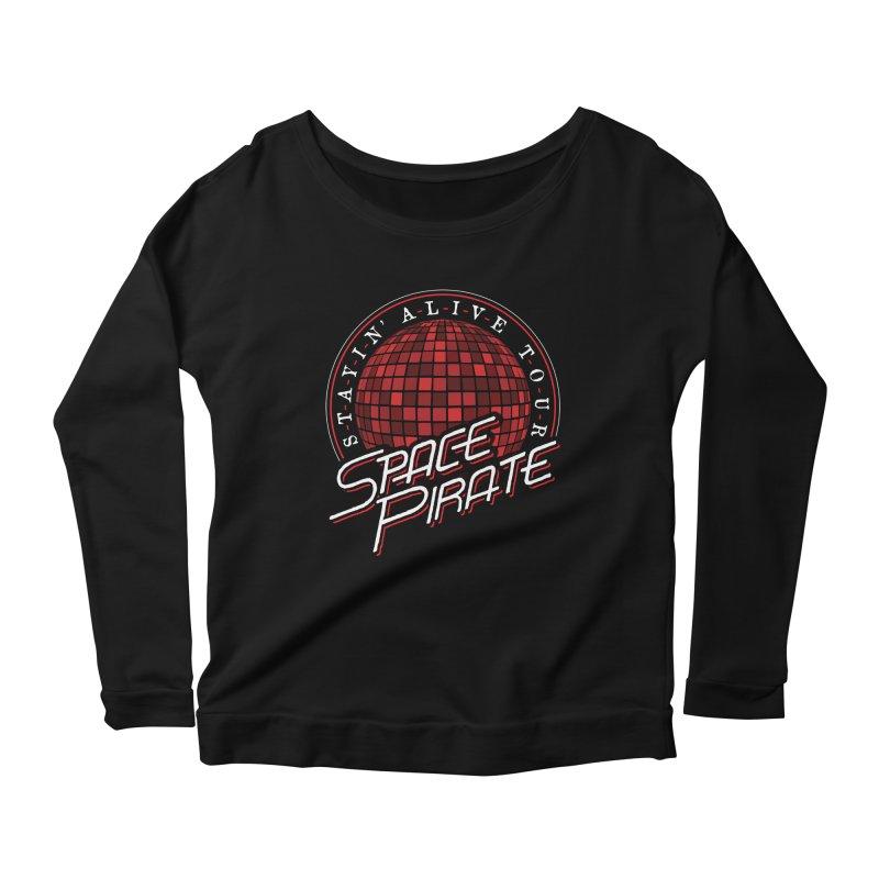 Space Pirate Women's Scoop Neck Longsleeve T-Shirt by Teeframed