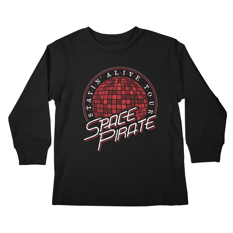 Space Pirate Kids Longsleeve T-Shirt by Teeframed