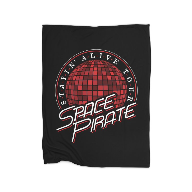 Space Pirate Home Fleece Blanket Blanket by Teeframed