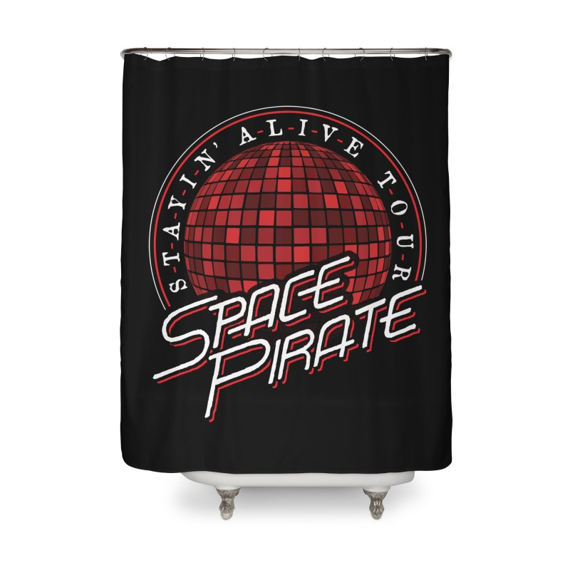 Space Pirate Home Shower Curtain by Teeframed