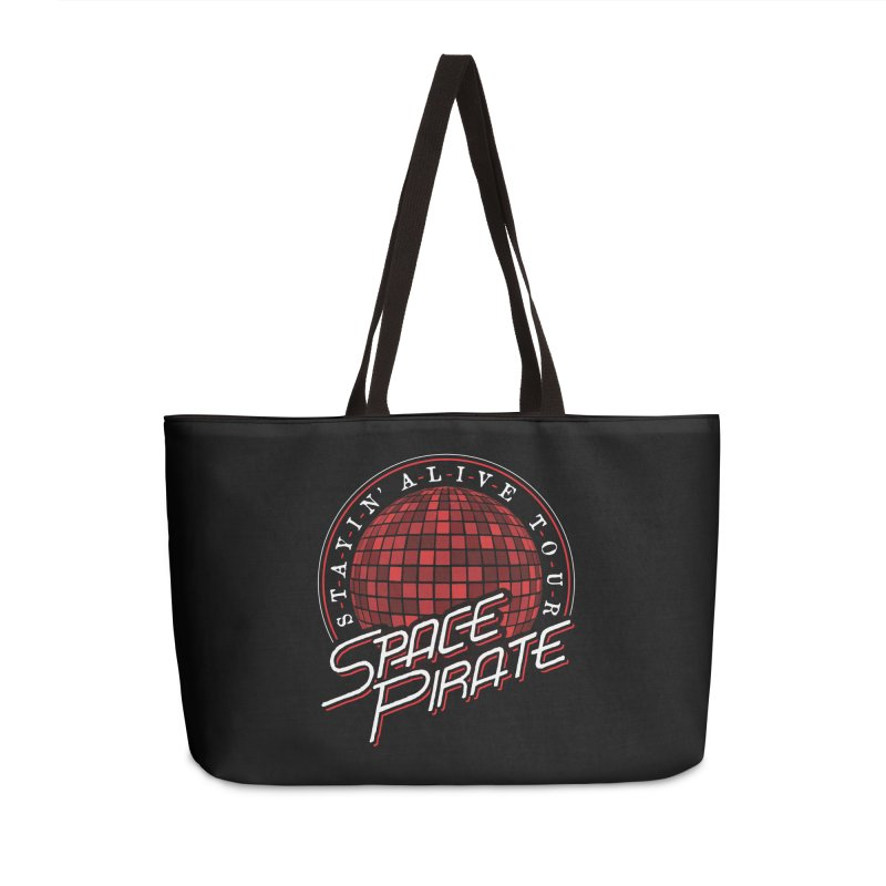 Space Pirate Accessories Weekender Bag Bag by Teeframed