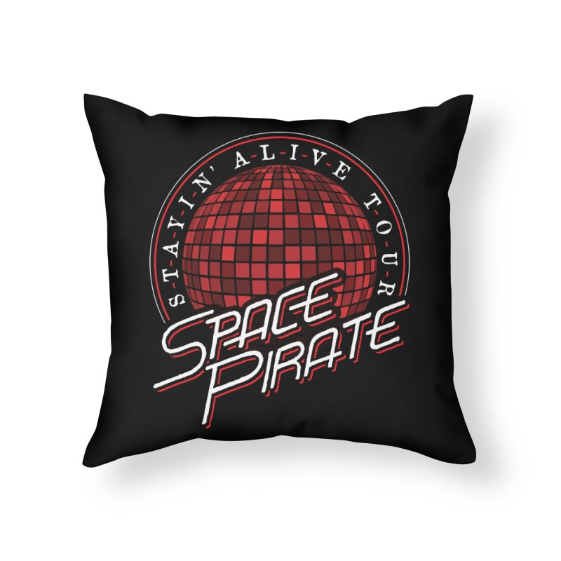 Space Pirate Home Throw Pillow by Teeframed
