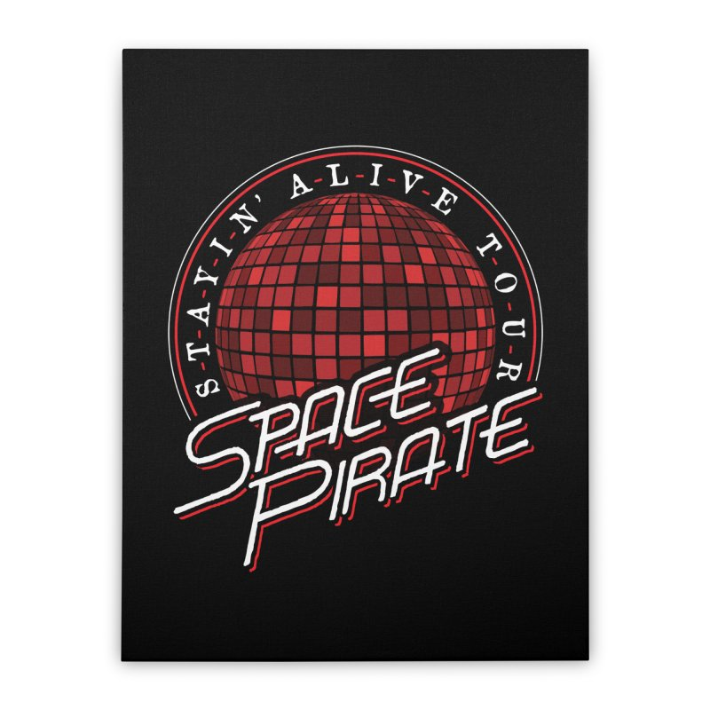 Space Pirate Home Stretched Canvas by Teeframed