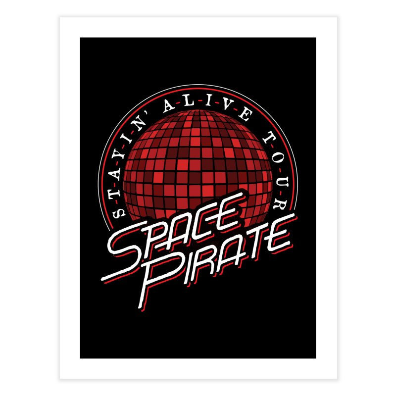 Space Pirate Home Fine Art Print by Teeframed