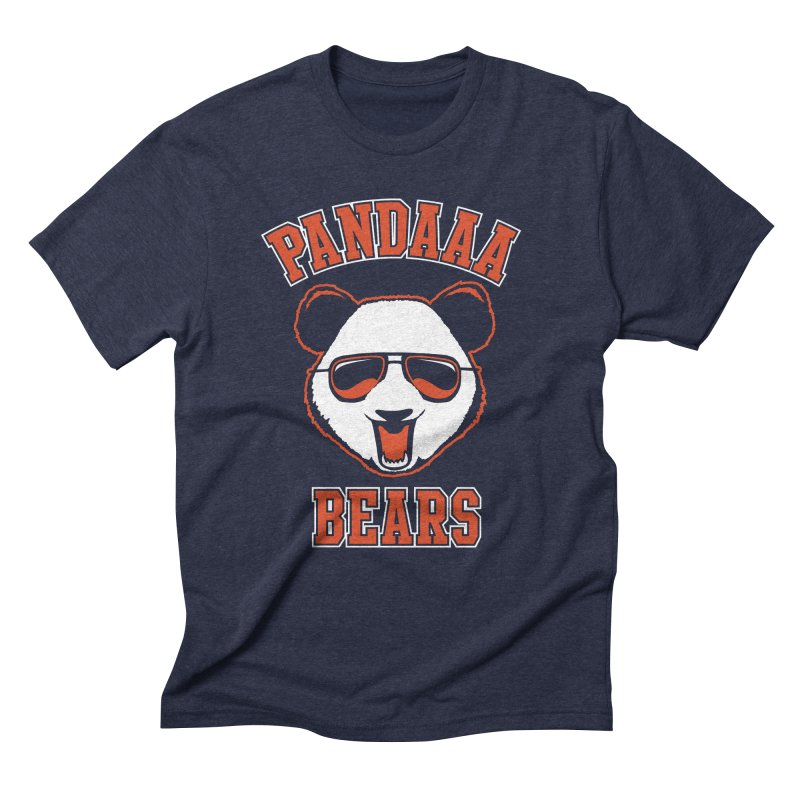 PanDAAA Bears in Men's Triblend T-shirt Navy by Teeframed