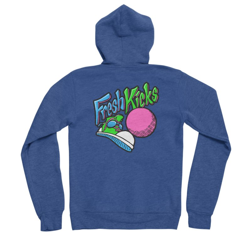 Fresh Kicks 01 Men's Sponge Fleece Zip-Up Hoody by Teeframed