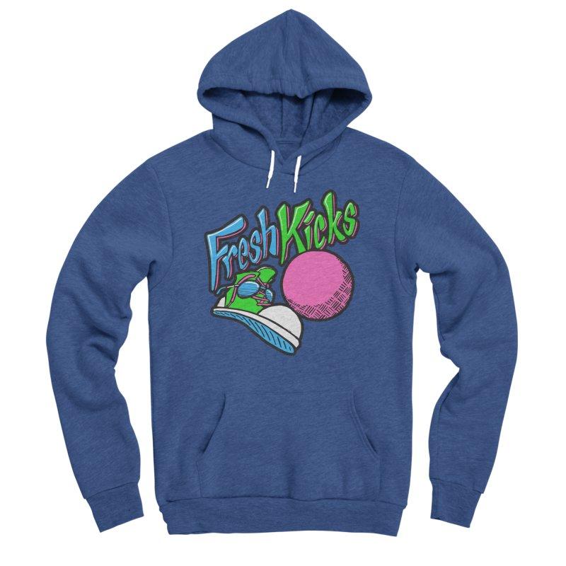 Fresh Kicks 01 Men's Sponge Fleece Pullover Hoody by Teeframed