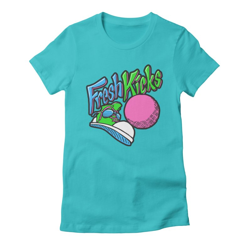 Fresh Kicks 01 Women's Fitted T-Shirt by Teeframed