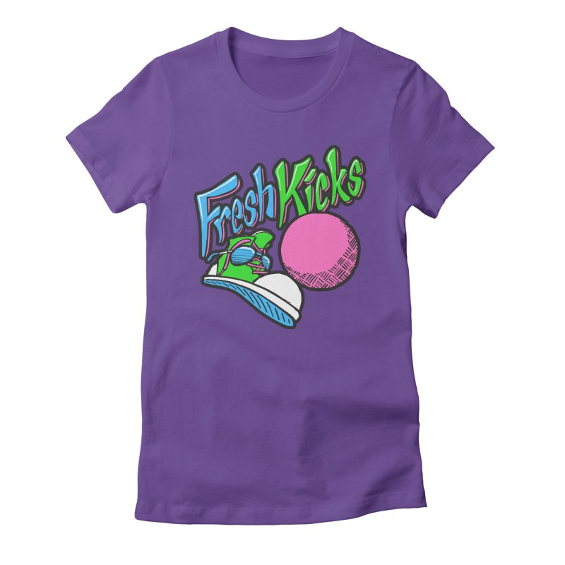 Fresh Kicks 01 Women's Fitted T-Shirt by Teeframed