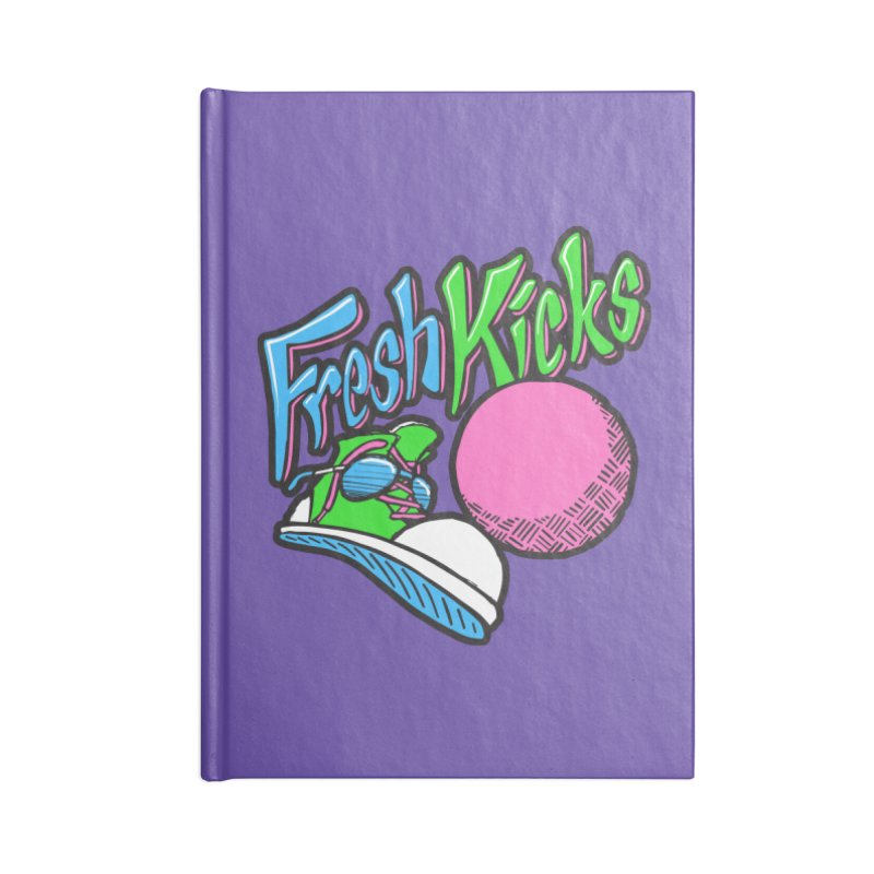 Fresh Kicks 01 Accessories Lined Journal Notebook by Teeframed
