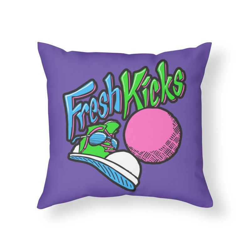 Fresh Kicks 01 Home Throw Pillow by Teeframed