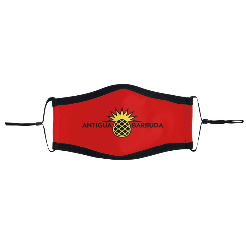 Antigua & Barbuda - Black Pineapple Accessories Face Mask by Teeframed