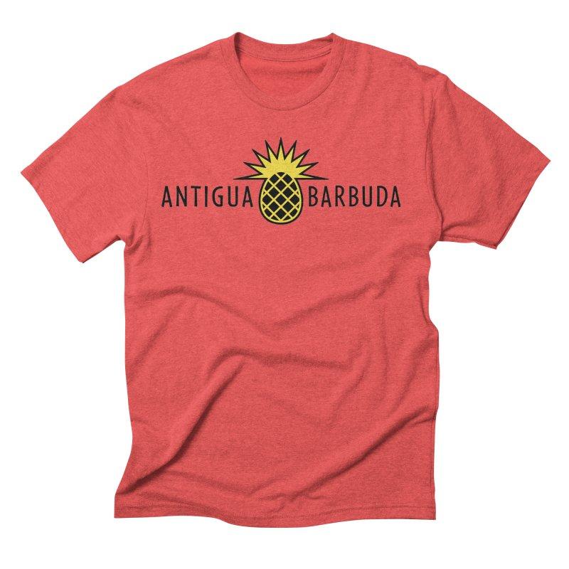 Antigua & Barbuda - Black Pineapple Men's T-Shirt by Teeframed