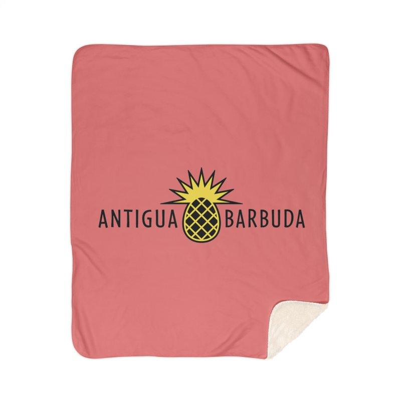 Antigua & Barbuda - Black Pineapple Home Blanket by Teeframed