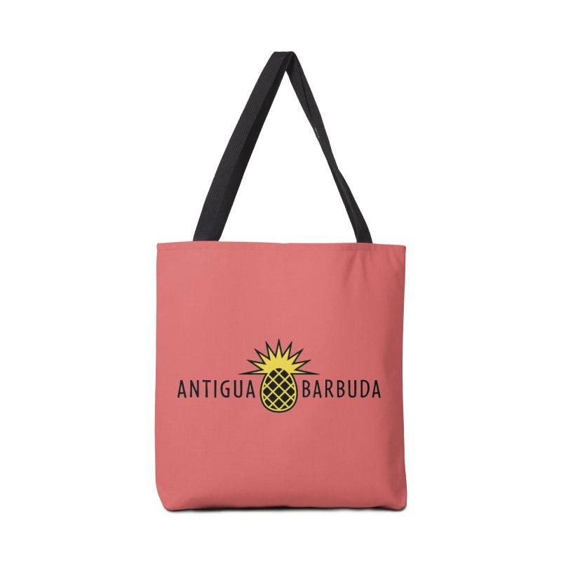 Antigua & Barbuda - Black Pineapple Accessories Bag by Teeframed