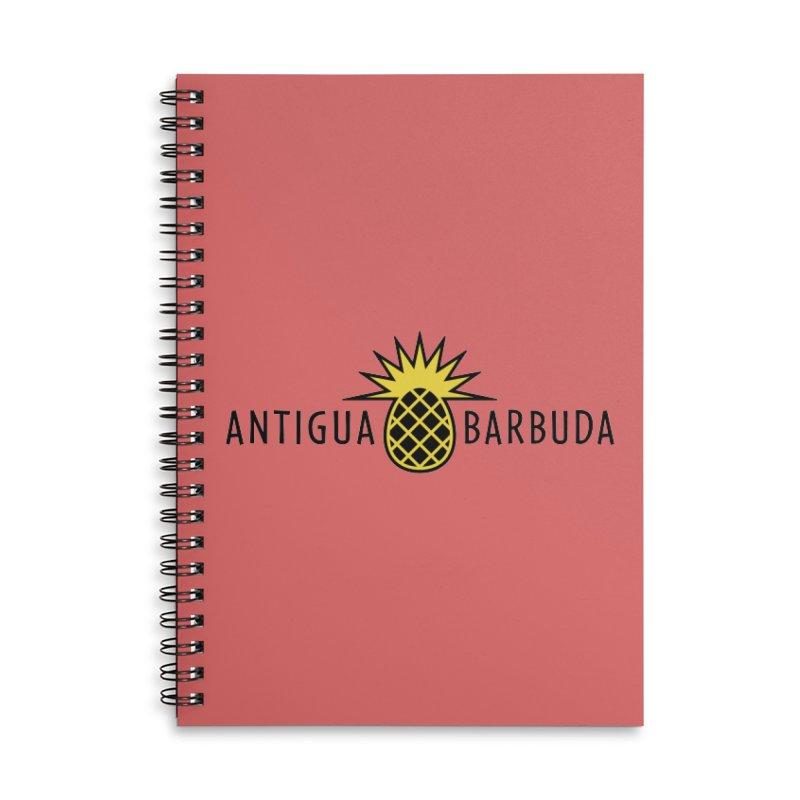 Antigua & Barbuda - Black Pineapple Accessories Notebook by Teeframed