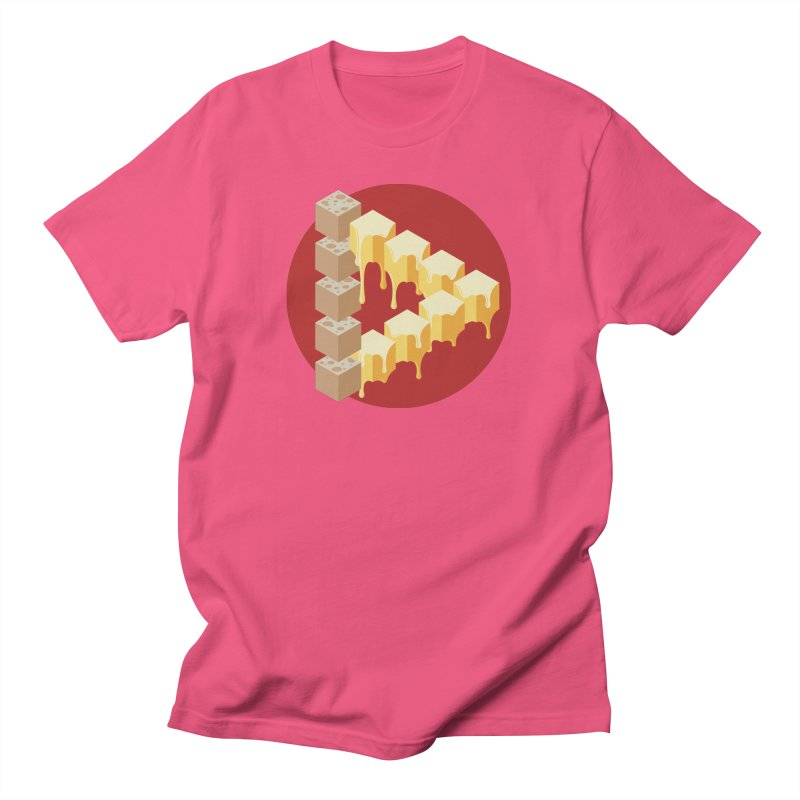 Optical Illusion with Extra Cheese Men's T-Shirt by Teeframed