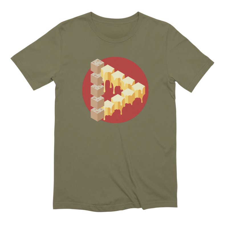 Optical Illusion with Extra Cheese Men's Extra Soft T-Shirt by Teeframed