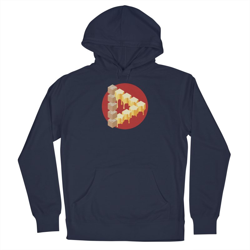 Optical Illusion with Extra Cheese Men's Pullover Hoody by Teeframed