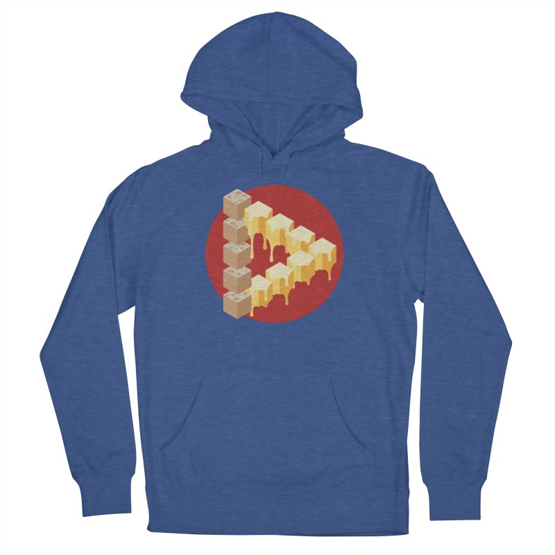 Optical Illusion with Extra Cheese Men's French Terry Pullover Hoody by Teeframed