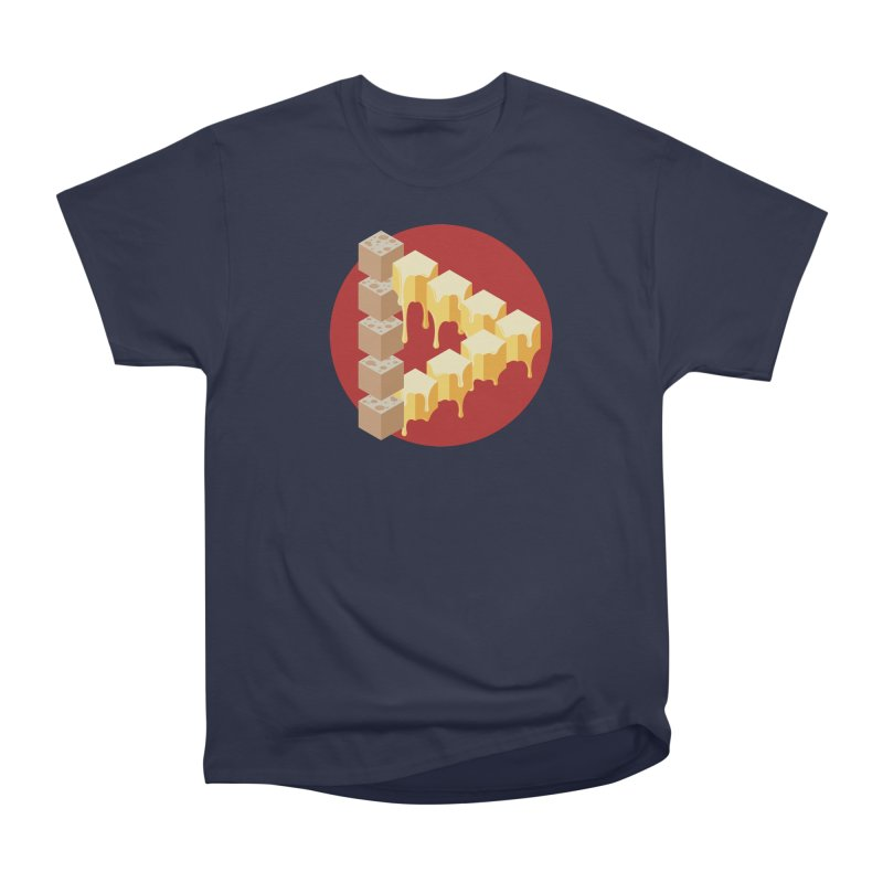 Optical Illusion with Extra Cheese Men's Heavyweight T-Shirt by Teeframed