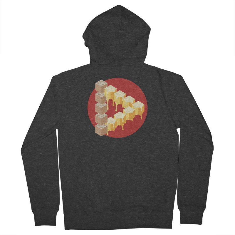 Optical Illusion with Extra Cheese Women's French Terry Zip-Up Hoody by Teeframed
