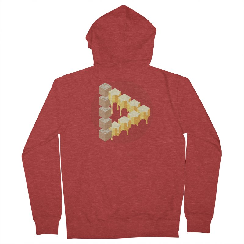 Optical Illusion with Extra Cheese Men's French Terry Zip-Up Hoody by Teeframed