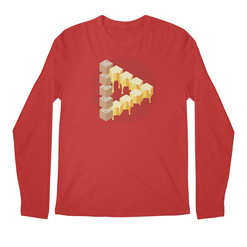 Optical Illusion with Extra Cheese Men's Regular Longsleeve T-Shirt by Teeframed