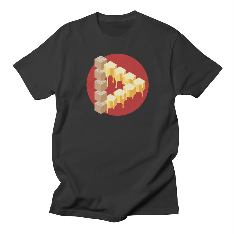 Optical Illusion with Extra Cheese Men's Regular T-Shirt by Teeframed