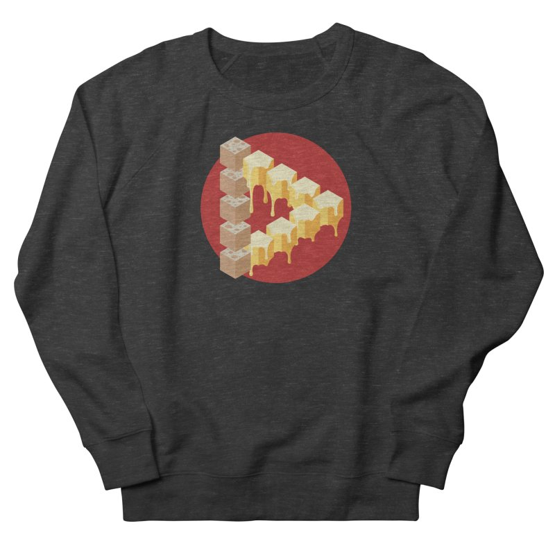 Optical Illusion with Extra Cheese Women's French Terry Sweatshirt by Teeframed